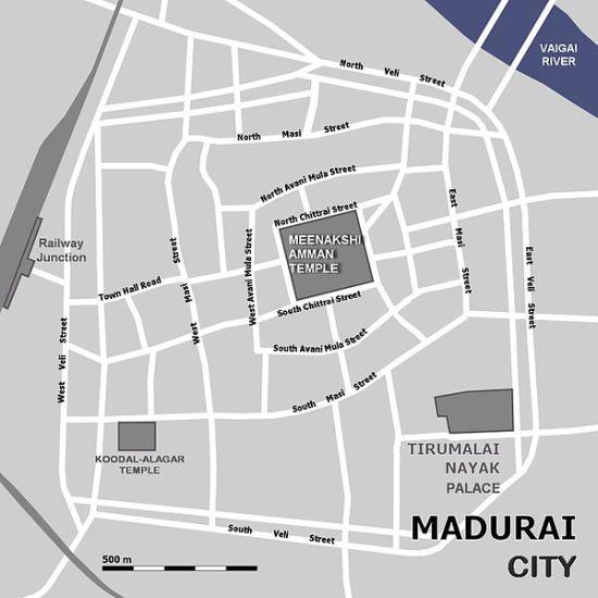 madurai map